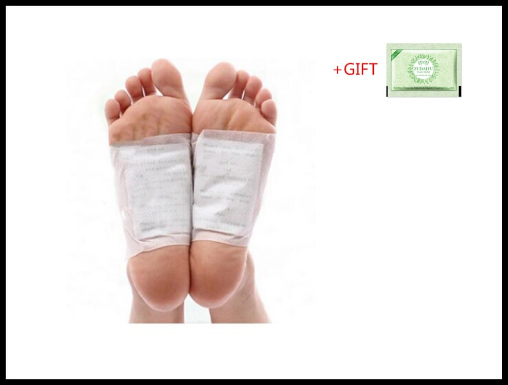 200 шт./лот + подарок Золото Премиум Kinoki детоксикационные подушечки для ног органические травяные очищающие патчи (100 шт пластырей + 100 шт клеев...