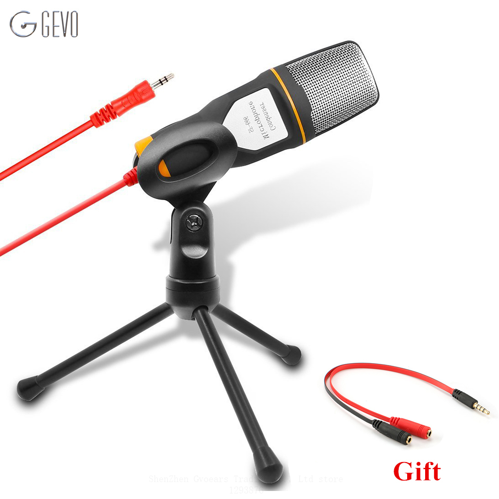 GEVO SF 666 Computer Microphone Professional 3 5mm Jack Wired With Stand font b Tripod b