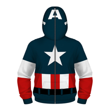Fans Made Captain America Unisex Hoodie Spiderman 3D Printed Long Sleeve Casual Tops Childrens Deadpool Pullover