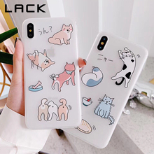 LACK Cartoon Cat Dog Phone Case For iphone XS Max X XR 8 7 6