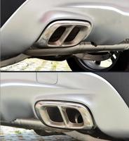 Stainless Steel Rear Bumper Dual Exhaust Pipe Add On Cover Trims For Mercedes GLA180 GLA200 GLA250 GLA Class