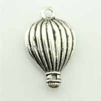 free shipping 40pcs antique tibetan silver hot air balloon charm 21*13mm diy jewelry accessories