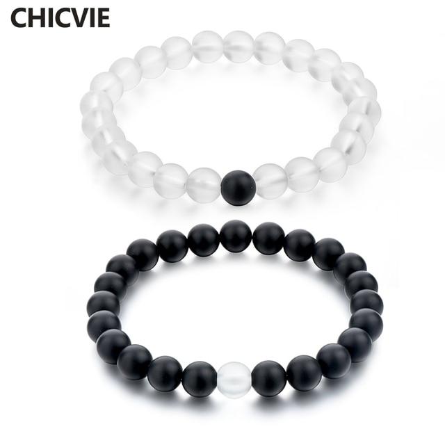 CHICVIE Ethnic style Natural Stone Beads Bracelet for Women Mens