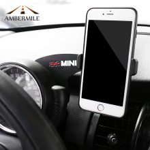 AMBERMILE Car Mobile Phone Holder Bracket Union Jack Decorations for BMW Mini Cooper F55 F56 F54 Clubman Accessories Car Styling
