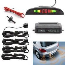 Car Auto Parktronic LEVOU Kit De Sensor De Estacionamento Com Sensores 4 Sistema Backlight Display Monitor Detector Carro Blind Spot Para Todos carros