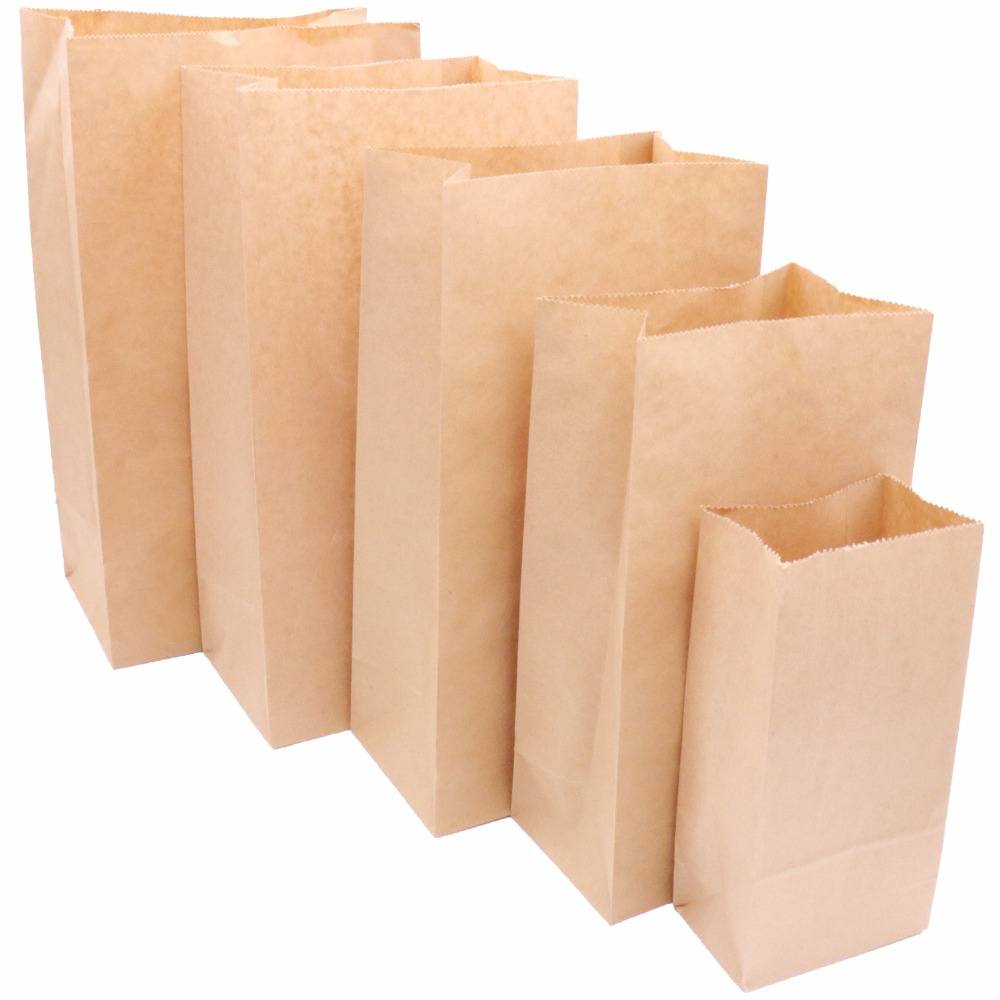 Gift Bags Kraft-Paper-Bags Sandwich Wedding-Supplies Takeout Food-Tea Party Small 10pcs
