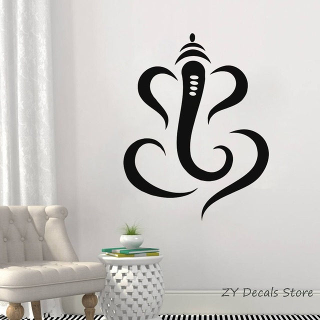 hindu ganesha lord vinyl wall decal simple indian elephant wall