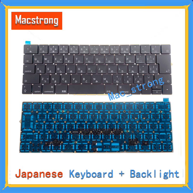 Brand New Original 13 A1706/A1708 JP Keyboard For Macbook Pro 15 Retina A1707 12 A1534 JP Keyboard With Backlight 2016 2017 image