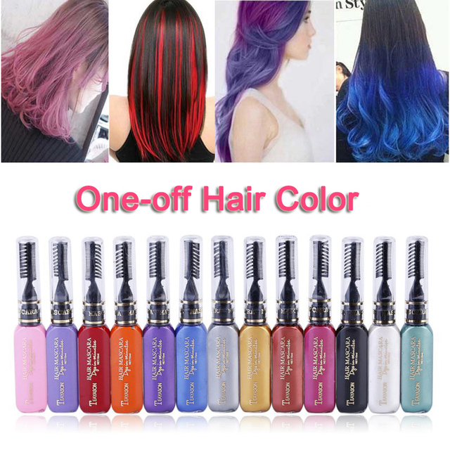 13 Colors One off Hair Color Dye Temporary Non toxic DIY Hair Color ...
