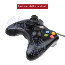 Cdragon USB Wired Joypad Gamepad Black Controller For Xbox 360 Joystick For Official Microsoft PC for Windows 7 / 8 / 10