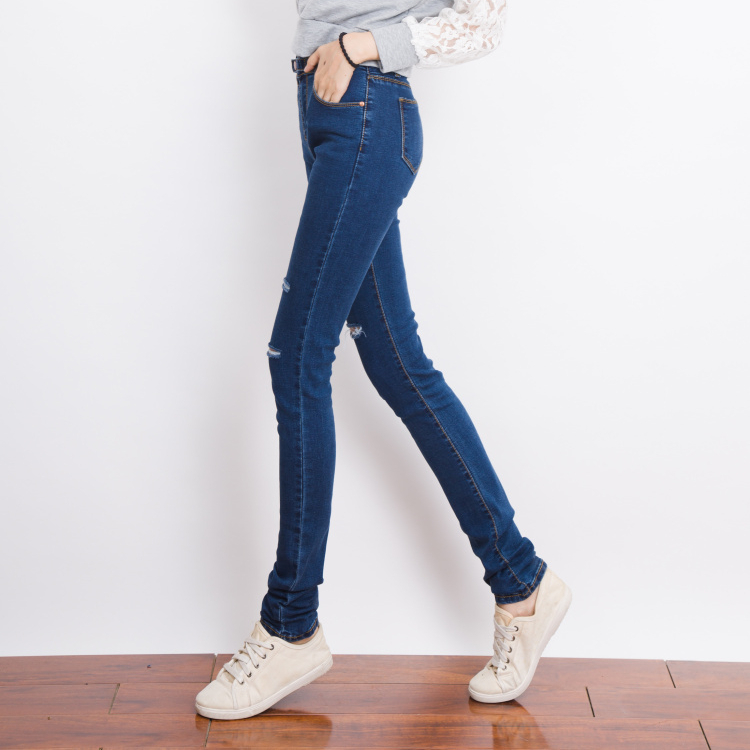 Aliexpress.com : Buy Women Destroyed Jeans Extra Long Skinny Jeans