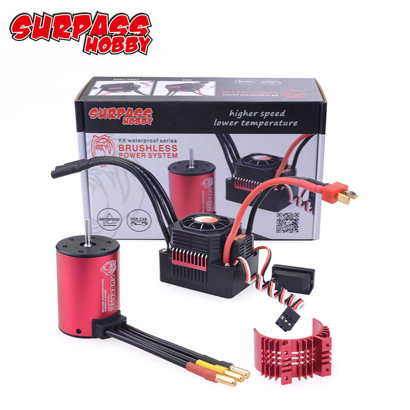 Carro RC 1:10 Peças 3650 3660 F540 3000KV 3500KV 3100KV 3600KV 5200KV 3930KV 4500KV 4370KV 4200KV Motor Brushless 45A 60A ESC
