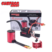 RC Car 1:10 Parts 3650 3660 F540 3000KV 3500KV 3100KV 3600KV 5200KV 3930KV 4500KV 4370KV 4200KV Brushless Motor 45A 60A ESC high quality 2860 four pole brushless motor for 1 10 rc car and 400mm rc boat 3000kv