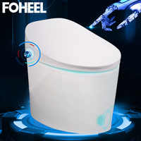 FOHEEL One-Piece Smart Toilet Integrated Automatic Massage Intelligent Toilet WC Elongated Remote Controlled Toilet