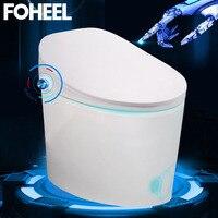 FOHEEL цельный умный туалет интегрированный автоматический промывочный массаж умный Туалет WC удлиненный туалет с дистанционным управлением