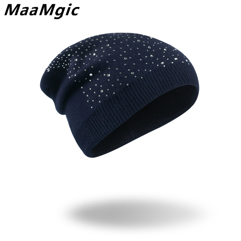 Women's Winter Warm Diamond Hat Knitted Wool Beanie Female Fashion Skullies Casual Outdoor Girl Ski Caps Thick Warm Hat for Wome fibonacci winter hat knitted wool beanies skullies casual outdoor ski caps high quality thick solid warm hats for women