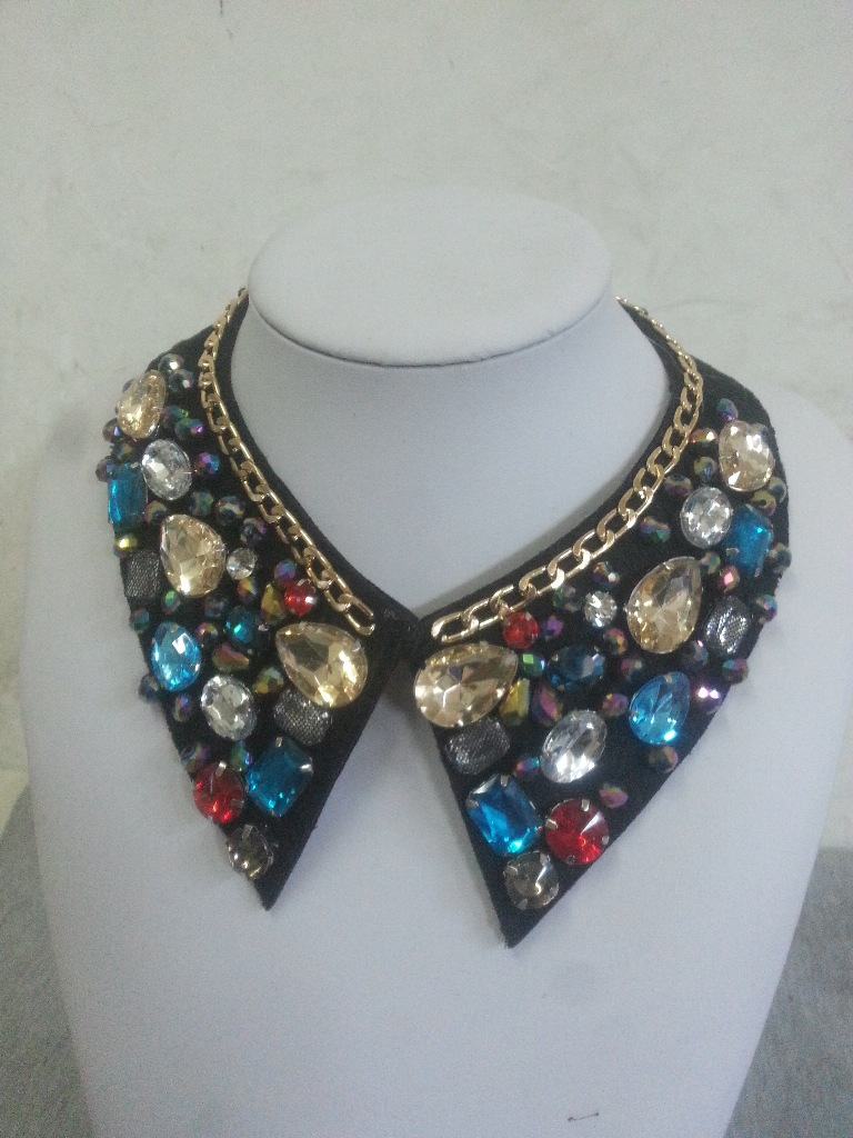 European And American Atmosphere Rhinestone Small Pointed Collar Korea Fake Collar Boutique Collar Women