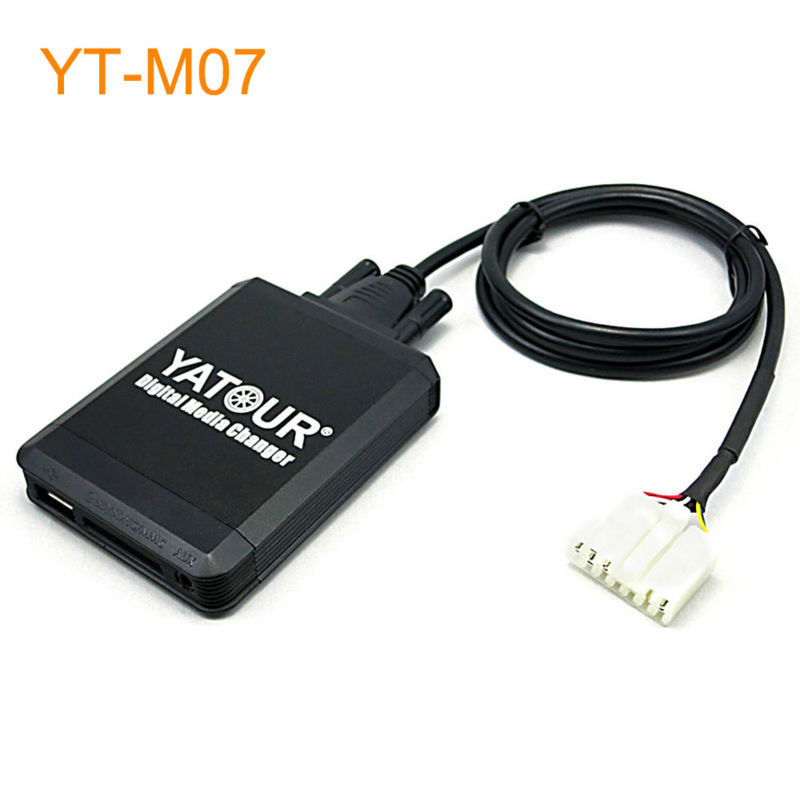 Yatour Car MP3 USB SD CD Changer for iPod AUX with Optional Bluetooth for Toyota Cressida Fortuner Harrier Hiace Hilux Matrix yatour car adapter aux mp3 sd usb music cd changer 6 6pin connector for toyota corolla fj crusier fortuner hiace radios