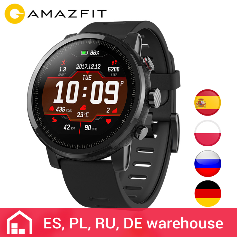 b24231dcfc52 Huami Amazfit 2 Amazfit Stratos Pace 2 Smart Watch Men with GPS Xiaomi  Watches PPG Heart