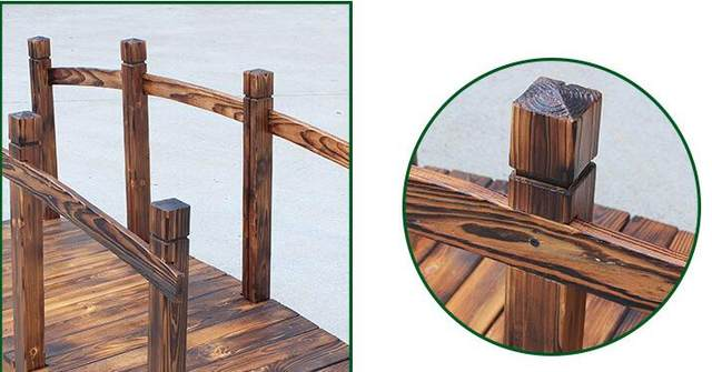Online shop houten brug stained afwerking decoratieve massief