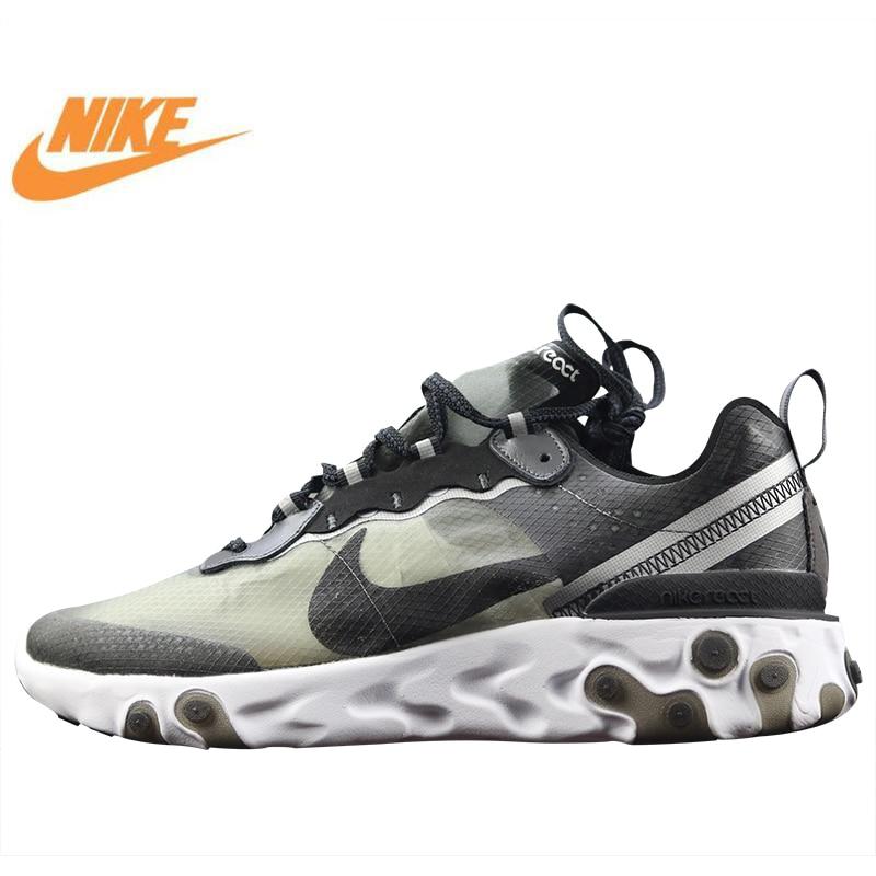 Nike Epic Réagir Élément 87 Couvert Hommes de Chaussures de Course, haute Qualité Nouvelles Chaussures De Sport Respirant Absorption Des Chocs AQ1090 001