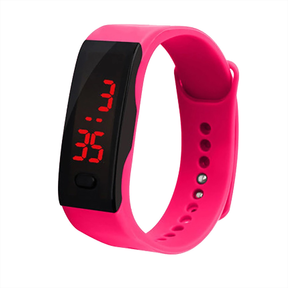 OTOKY  Women's Watches Sports Fitness LED Digital Display Bracelet Watch Children's Student Sports Multi-color Optional Watch