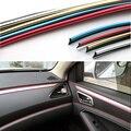 HUANLISUN 3 M Interior Exterior Moulding Trim Para Coche Universal Car Styling Flexible PVC Tira Decorativa Con 5 Color