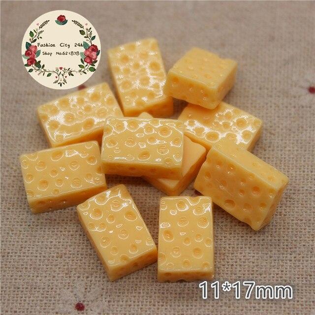 Résine de fromage Miniature | Simulation 3D mignonne de 20 pièces, bricolage, artisanat décoratif, Scrapbooking,11*17mm