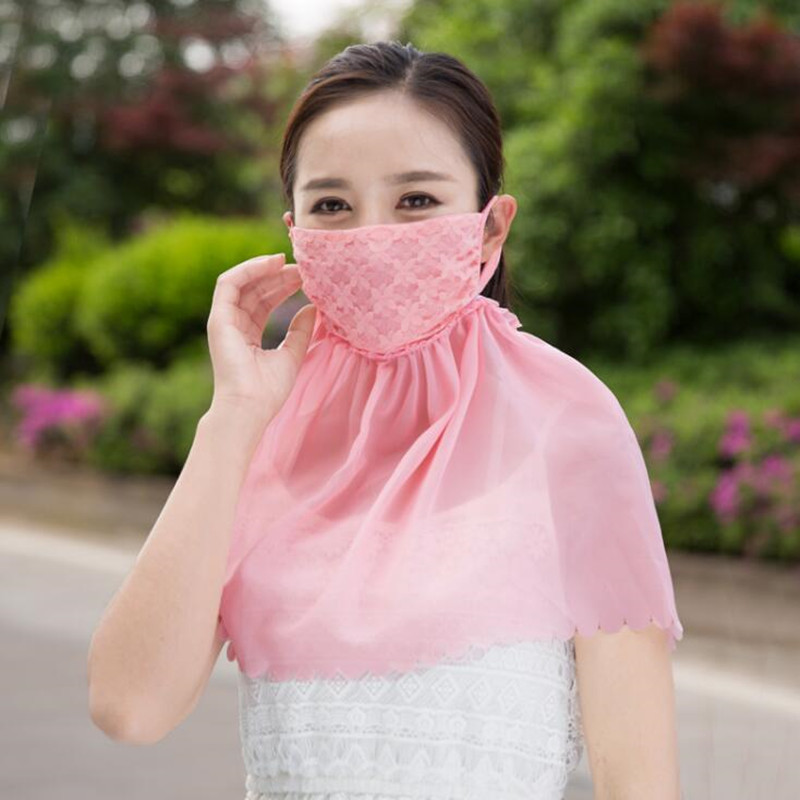 Sunscreen Mask Summer Female Anti-ultraviolet Breathable Lady Sun Protection Driving Outdoor Cycling Women Neck Face Mask H3146