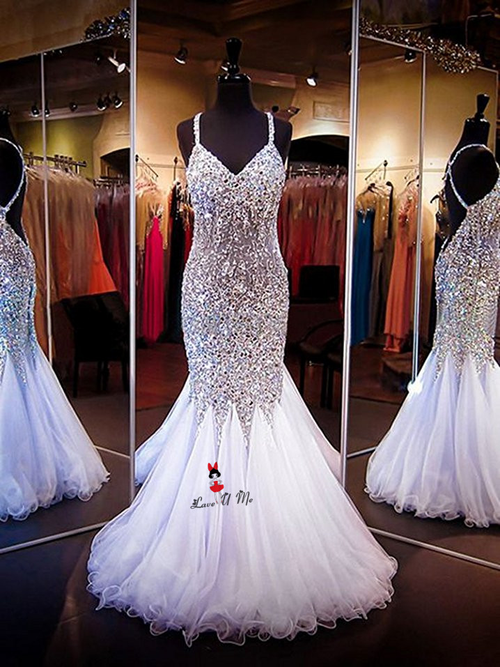 Vestido de Festa Royal Blue Silver Luxury Prom Dresses 2018 Crystals  Backless Long Evening Party Dress Mermaid Abendkleider Boda-in Prom Dresses  from ... 5bc5f50e652f