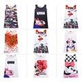 2017 Baby girls dresses Cartoon Minnie mouse Graffiti Butterfly Print Party Dress Princess Dress Vestidos Cute girls dress
