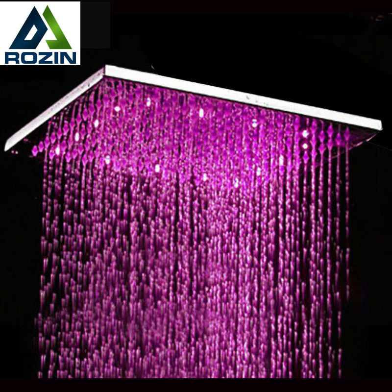 cheap rain shower head. Free Shipping Wholesale And Retail Chrome Polished 3 Colors Changing Sqaure  Showerhead 8 Rain Shower Online Get Cheap Head Square Aliexpress com Alibaba