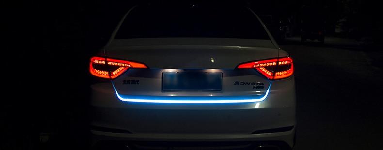 Niscarda автомобиля дополнительные стоп динамический стример плавающий светодиодные ленты 12 В Авто Магистральные Хвост Стоп бег поворотов лампа
