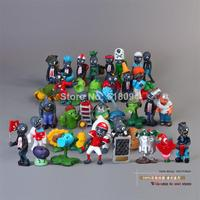40pcs/set Plants vs Zombies 2.5 6.5cm PVC Action Figures PVZ Collection Figures Toys Gifts plant + zombies Free Shipping