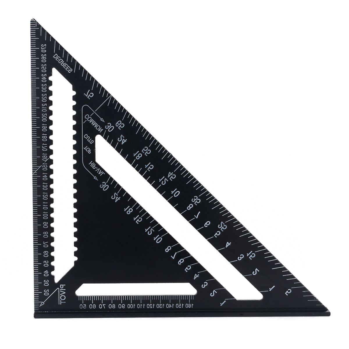 Aluminium Roofing Tri-square Ruler 12 inch Rafter Angle Frame Black For Carpenter Woodworking Measuring Tools tascam dr 40 page 9