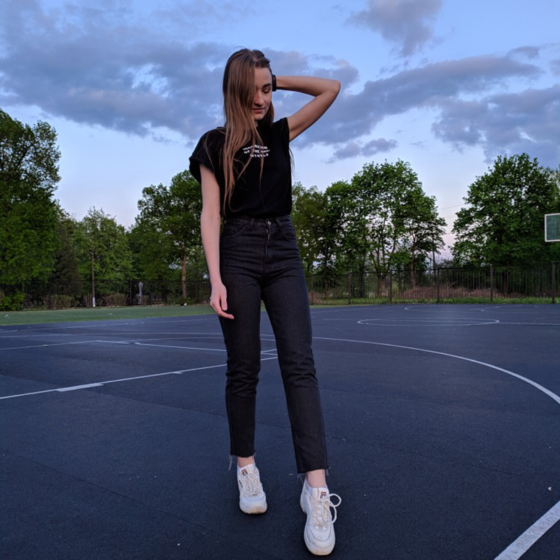 GCAROL Euro Style Classic Women High Waist Denim Jeans Vintage Slim Mom Style Pencil Jeans High