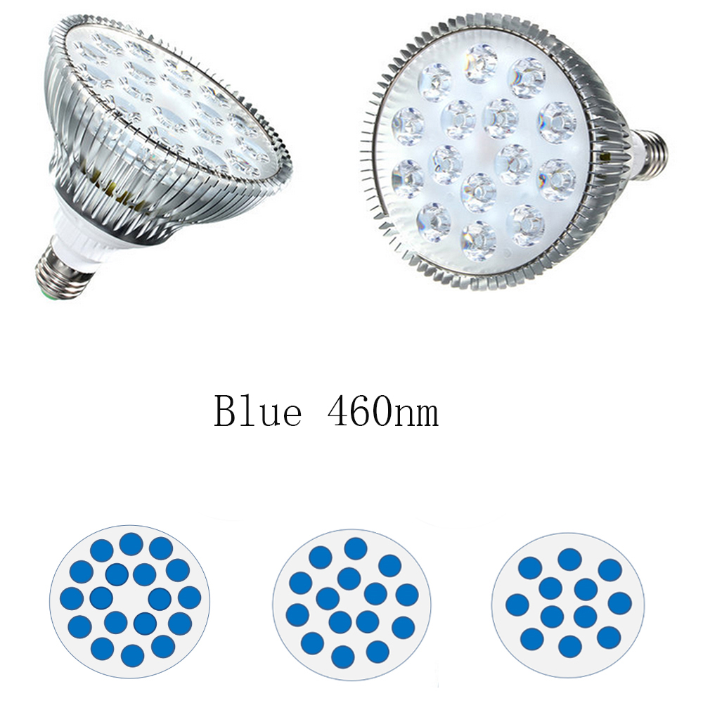 All Blue 450nm Par38 36W 45W 54W LED Plant Grow Light E27 Hydroponic Indoor Plants Veg Growth Lamp