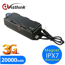 Car GPS Tracker 3G WCDMA 2G GSM GPS Ipx7 Waterproof 20000mAh Large Battery Magnetic Removable GPS