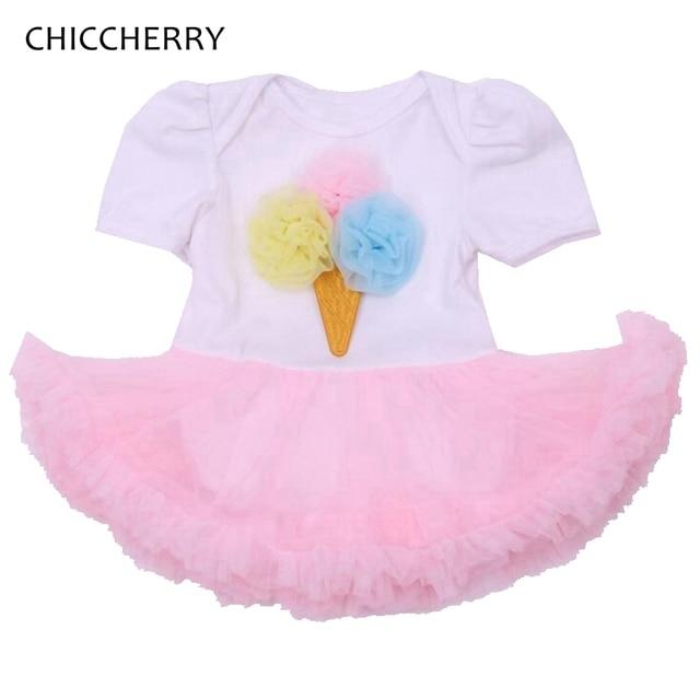 a3db826da17b Cute Ice Cream Newborn Baby Girl Clothes Pink Infant Lace Tutu Dress ...