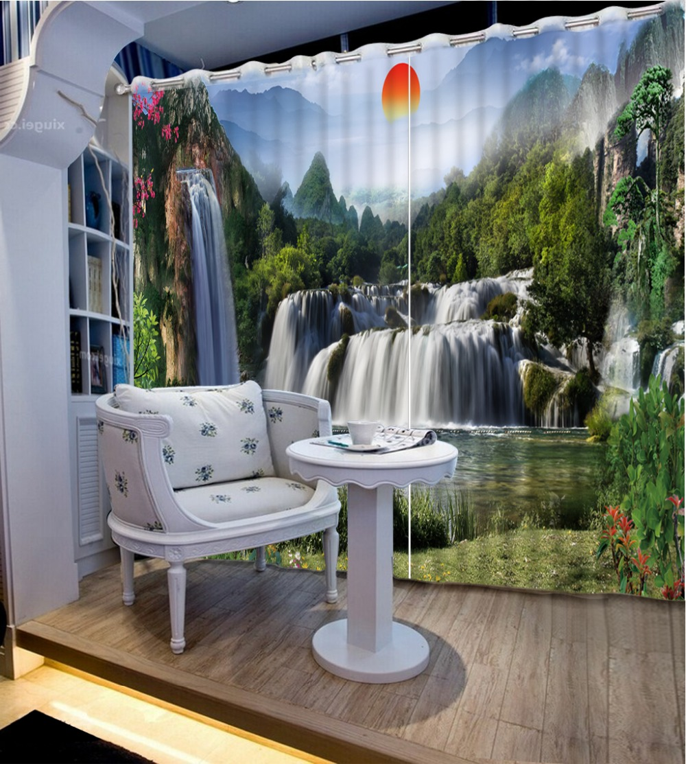 Photo Customize Size 3d Curtains Scenery Luxury European
