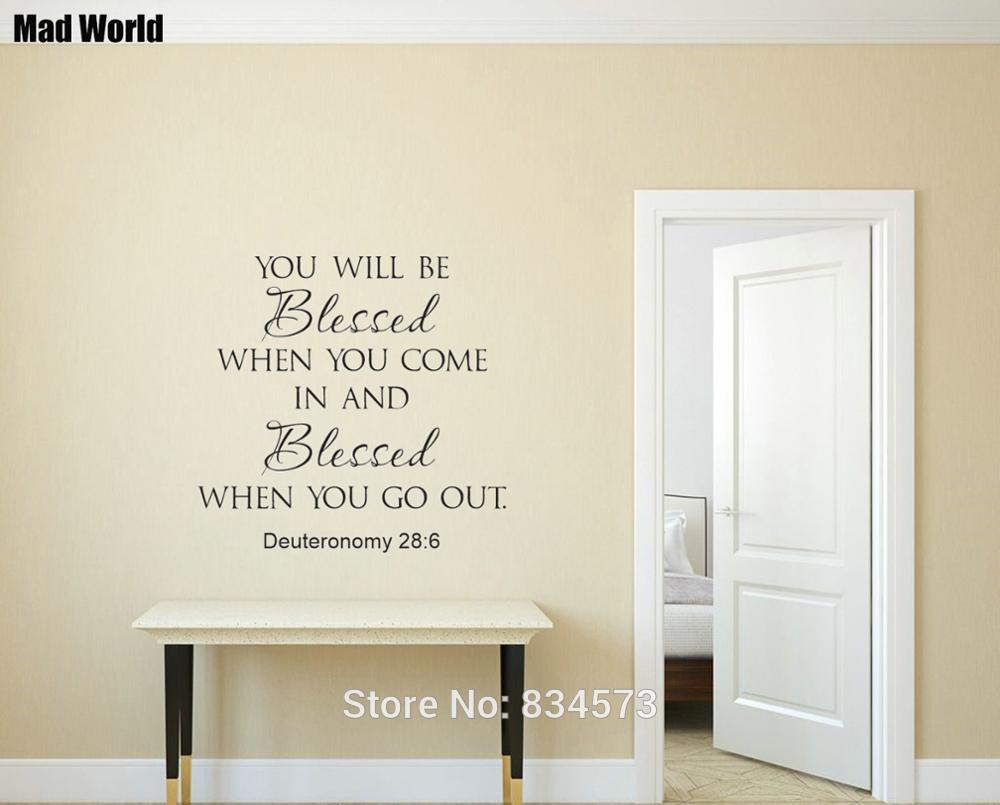Quote Scripture Wall Art Stickers