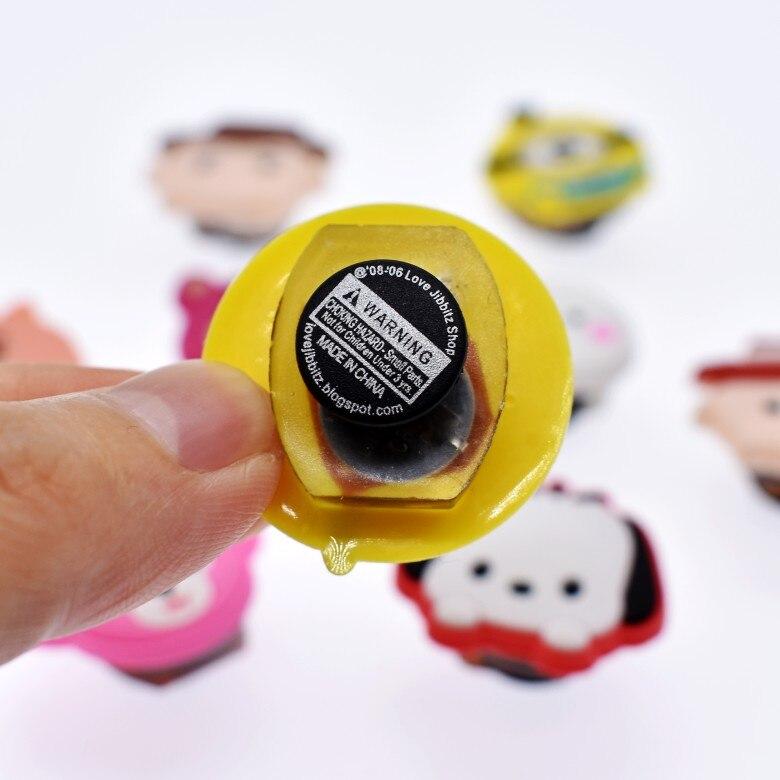 1000 pièces Doux LED Croc Charmes De Bande Dessinée Toutes Sortes Différentes Imprimé Boutons Accessoire Coupe Sandales Trou D'éclairage Ornements De Chaussures - 4
