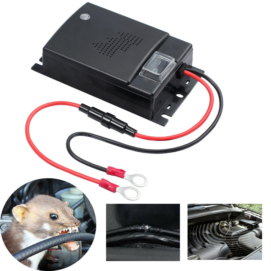 Rat-Mouse-Repeller Cars-Engine-Compartment Defense-Ultrasound Pest-Control Prevent-Marten-Shock title=