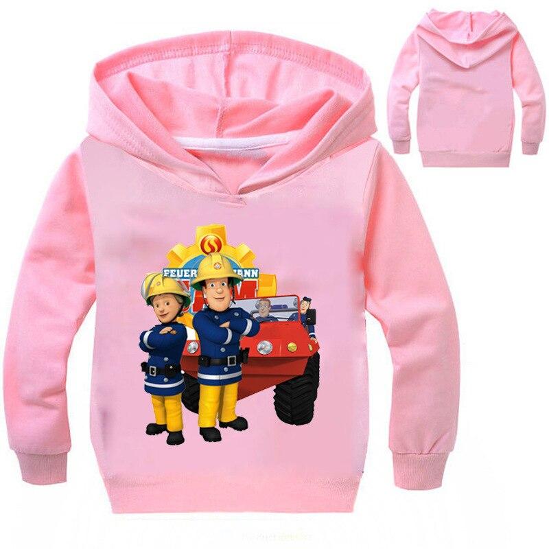 Z & Y 3-16years Autum Пожарный Сэм одежда Обувь для мальчиков Толстовки подростков детская футболка детей Детское худи Обувь для мальчиков джемпер П...