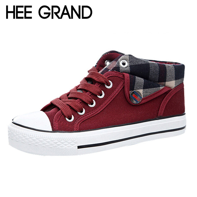 HEE GRAND Size 35-40 Fashion Platform Spring Autumn Canvas Shoes Wedge Women Casual Shoes Woman XWC374