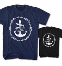 T-shirt Pour Hommes, haut imprimé, Travail Comme Un Kaptain, JOUER, PIRATE, MARIN, MATELOT, à la mode, 2019