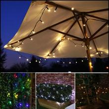цены 100 LED 8 Mode Solar Light Fairy String Lights Lamp Christmas Lights Garland Garden Yard Courtyard Festival Decoration