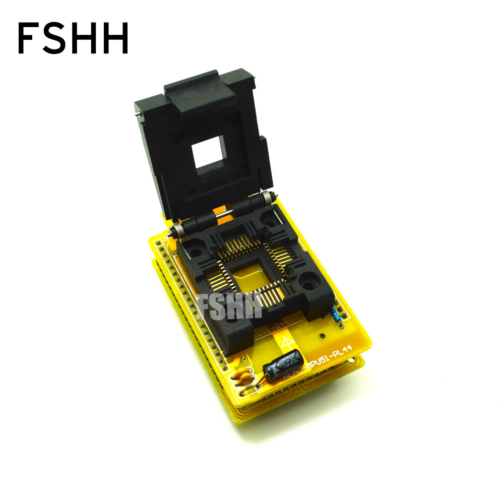 HEAD-MPU51-PL44 Adapter for HI-LO GANG-08 Programmer Adapter PLCC44 IC SOCKET(Flip test seat) original plcc44 to dip40 block adapter block cnv plcc mpu51 test convert burn