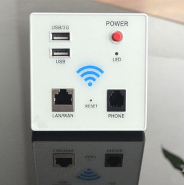 The new 86 wireless wifi routing wall wireless embedded wall panel socket router недорго, оригинальная цена