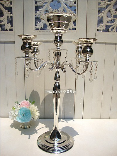 H 68cm wedding glass candlesticks with beads for wedding decoration crystal candel holder hanging glass candle holder ZT 2193B